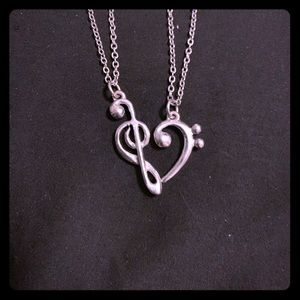 Music Heart 2pc necklace